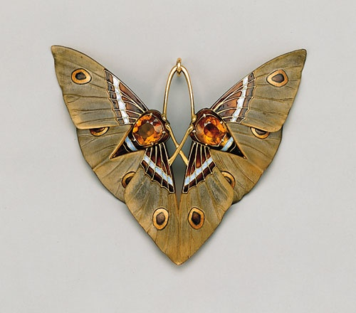 lalique moth pendant