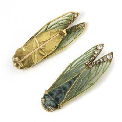 lalique cicada pin