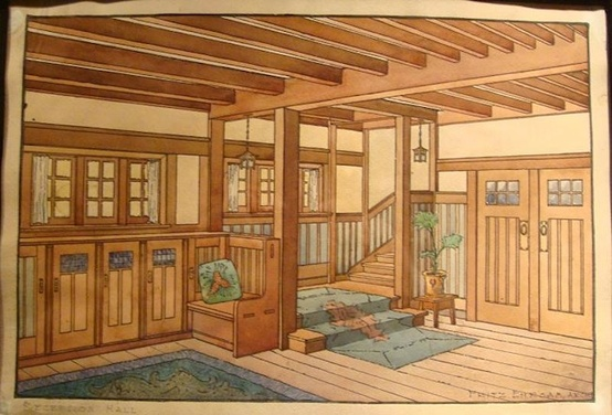 Craftsman Interior Drawing 1