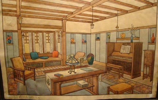 Craftsman Interior Drawing 2