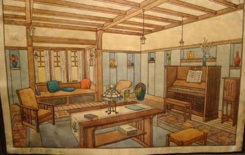 Craftsman Interior Design Drawing 2