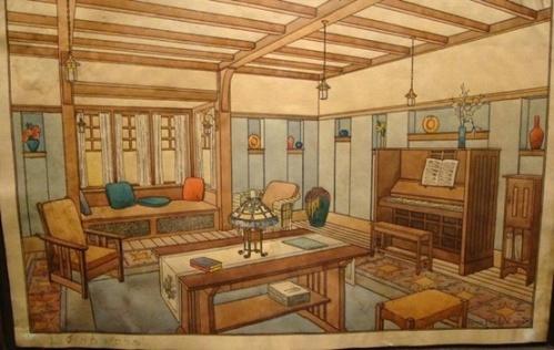 Craftsman Interior Design Drawing 2