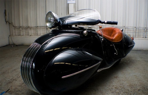 Not a car but a Henderson Motorcycle