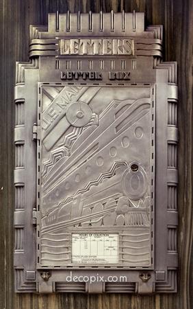 Deco letter box